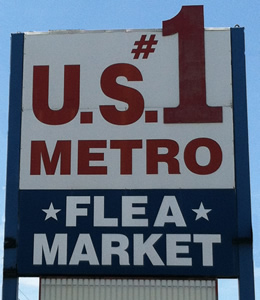 US #1 Metro Flea Market sign